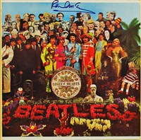 Signed Beatles Album Cover
