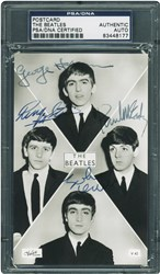 The Beatles Signed Postcard