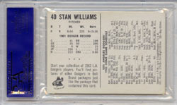 Back of Bell Brand Stan Williams card