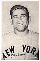 A Yogi Berra Exhibit Card.