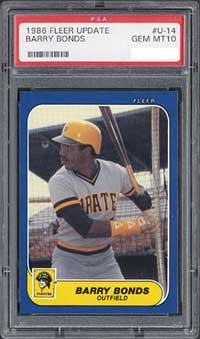 This 1986 Fleer Update PSA 10 is a rare find due to the traditionally poor centering and chipping along the edges