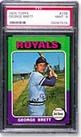 1975 Topps George Brett (PSA graded MINT 9)