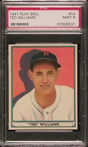 1941 Play Ball Ted Williams 014 PSA MINT 9