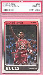Scottie Pippen's rookie card