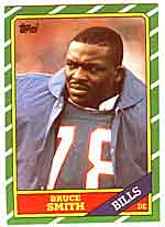 1986 Topps Bruce Smith Rookie (#389)