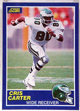 Cris Carter card, at auction on Sports Collectors Universe until 8/19/99.