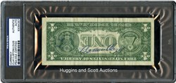 One-Dollar Bill Signed by Cassius Clay, Sonny Liston and Joe Louis