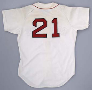 Roger Clemens game-used Red Sox jersey