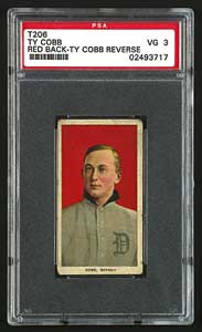 PSA VG 3 T206 Ty Cobb with Cobb back