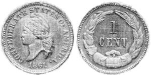 1861 Confederate Cent