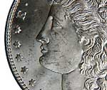 Contact marks appear on the face of this Morgan $1.