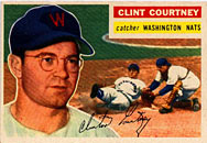 1956 Topps of catcher Clint Courtney.