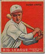 The 'common' Critz '33 Goudey #3<br> has never graded PSA 8 or better.<br>This example wouldn't make the grade.