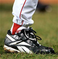 Curt Schilling's 'Bloody Sock' worn during Game Two of the 2004 World Series