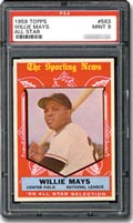 1959 Topps Willie Mays - PSA Graded Mint 9.