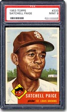 1953 Topps Satchell Paige - PSA Graded Mint 9.