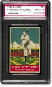 1933 Delong Vernon Lefty Gomez PSA NM-MT 8.