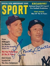 Joe DiMaggio and Mickey Mantle signed magazine