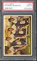 1957 Topps Dodgers Sluggers #400