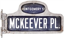 The Original Street Sign from the Brooklyn Dodgers' Ebbets Field