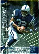Colts' rookie sensation Edgerrin James.<br>This card graded PSA Mint 9.