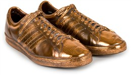Elgin Baylor Bronzed Game Worn Shoes