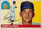 Killebrew's '55 Topps rookie is listed <br>at $2,000 in PSA 9 (SMR May).