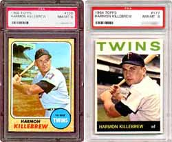 1968 and 1964 Topps Killebrew cards represent <br>some great cards you can add to your collection.