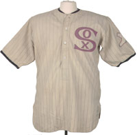 Rookie-era Red Faber Chicago White Sox uniform - sold for $43,679.00.