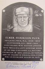 Flick Black & White Hall of Fame Plaque