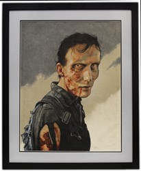 Framed Zombie-Inspired Art