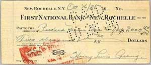 Lou Gehrig Check