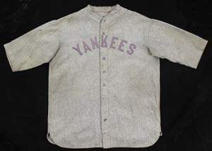 1927 Lou Gehrig game-used road jersey sells for $187,000