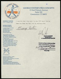 George Foster Signed Letter