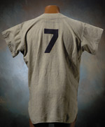Mickey Mantle's game-used road jersey from the 1954 season sold for $78,446.