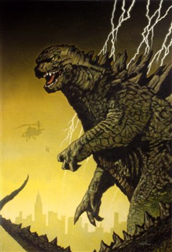 A lucky visitor to PSA's booth at the 2014 San Diego Comic-Con will win the original Godzilla artwork created for the August 2014 cover of SMR magazine.