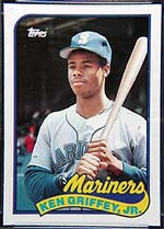 A Ken Griffey, Jr. card, recently at auction on Sports Collectors Universe.