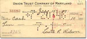 1947 Cancelled Check.