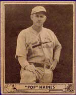 Would you have know that Jesse Haines,<br>the subject of this 1940 Play Ball #227 card,<br>is a baseball legend?