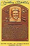 Postcard features Mantle's induction into the Hall of Fame.