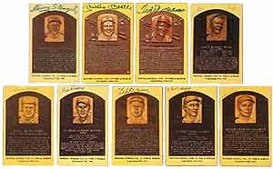 Gold Hall of Fame plaque postcards will always be a popular collectible among hobbyists.