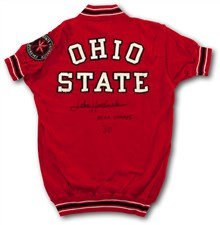 John Havlicek's 1960 Signed Ohio State Game Worn Warm-Up Jacket - Sold For: $36,716