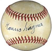 Honus Wagner Signed Baseball