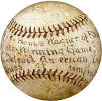 1909 World Series Game Ball hit by Honus Wagner