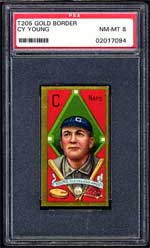 1911 T205 Gold Border Cy Young NM-MT 8