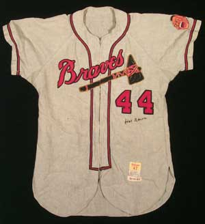 Superb Hank Aaron Game Worn Jersey