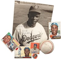 Fine Collection of Jackie Robinson Autographed Baseballs, Photographs and Documents