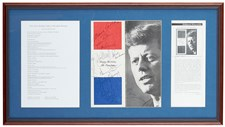 JFK Birthday Program Signed By Marilyn Monroe and Others