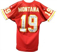 Joe Montana Game Used Jersey (Back)