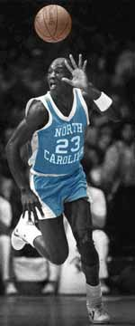 Michael Jordan's Tarheels jersey<br> was sold at auction for $55,000,<br>at the Mandalay Bay Resort & Casino.